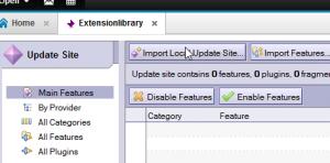 import update site